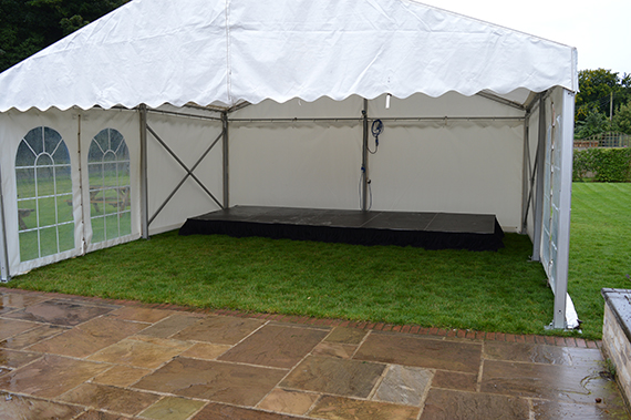 Marquee for the band Elveden Suffolk