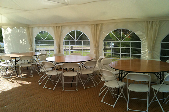 internal image of party tent in suffolk