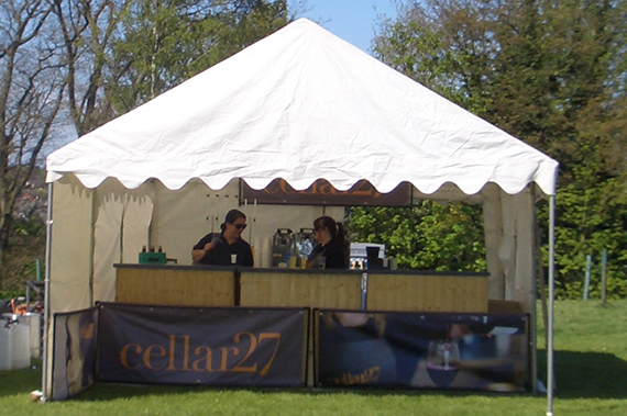 party tent bar in christchurch park ipswich