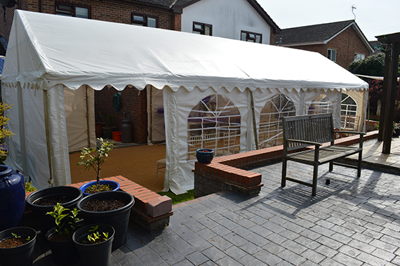 party tent marquee for garden party in ipswich suffolk