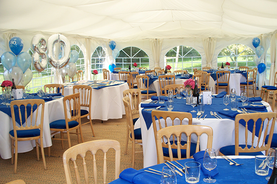 birthday party in marquee suffolk