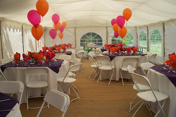 balloons in party tent ipswich suffolk