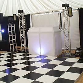 black and white dance floor hire suffolk and essex
