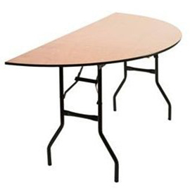 5ft half round banqueting table