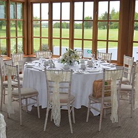 white lime wash chiavari chairs Hintlesham Golf Club: Golf, Weddings and Events near Ipswich Suffolk