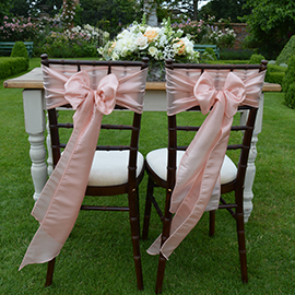 mahogany chiavari chairs Helmingham Hall Weddings - Wedding Venue