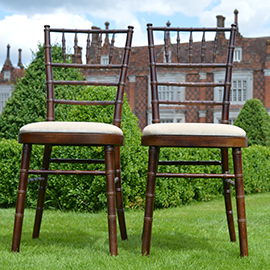 Mahogany chiavari chairs Helmingham Hall Weddings - Wedding Venue suffolk