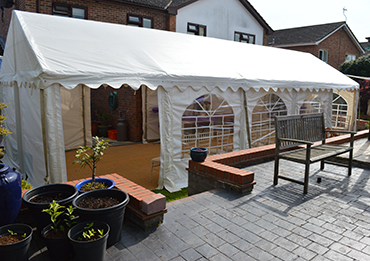party tent in garden suffolk and essex