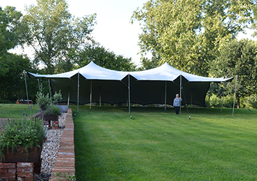 stretch tent from rent a party tent suffolk