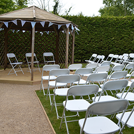 white folding event chair suffolk