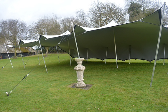 Stretch tent haughley park barns suffolk