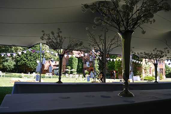 stretch tent wedding woodhall manor suffolk